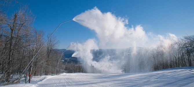Snowmaking compressors started arriving today at Okemo