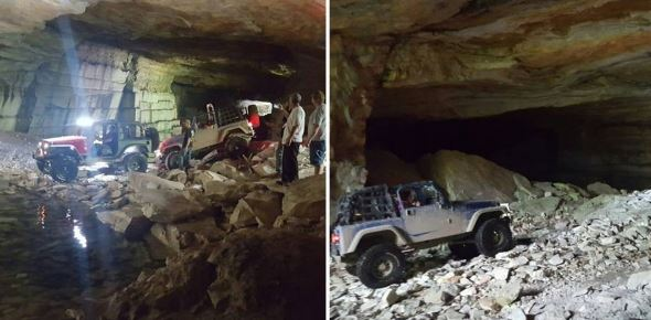 Off roading in Vermont at the Dorset caves