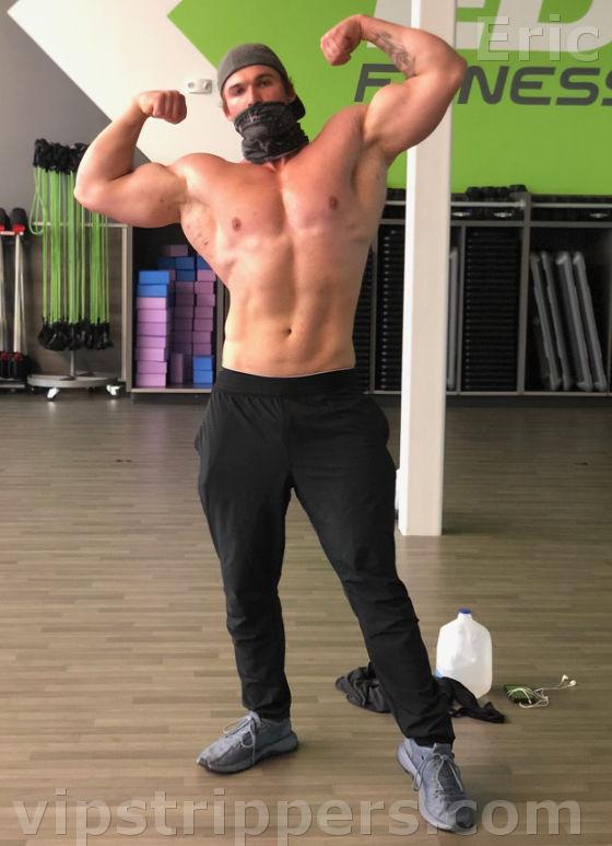 Vermont male stripper Eric